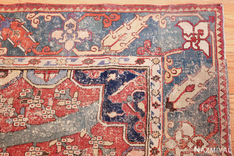rare antique 17th century gallery size khorassan persian rug 3289 corner Nazmiyal
