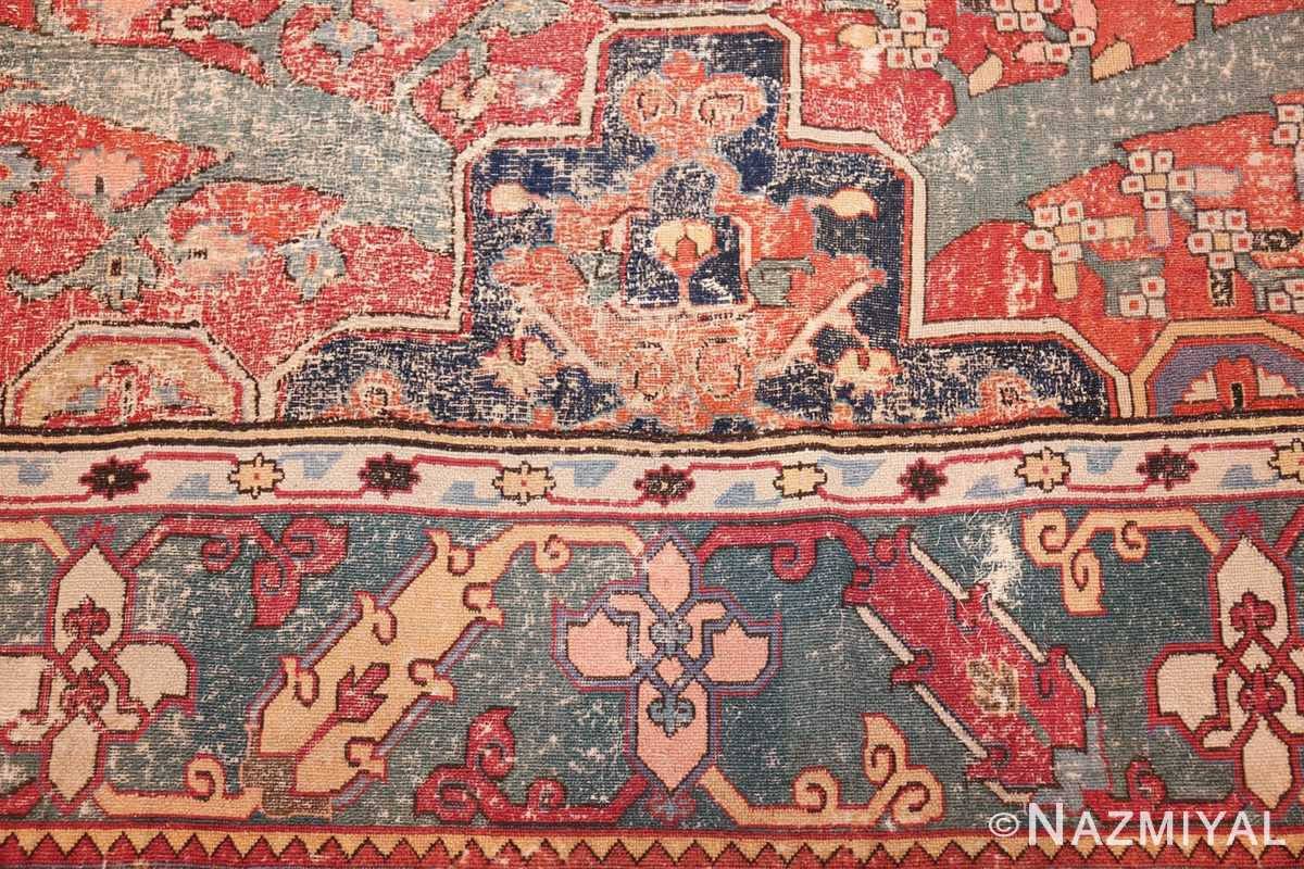 rare antique 17th century gallery size khorassan persian rug 3289 design Nazmiyal