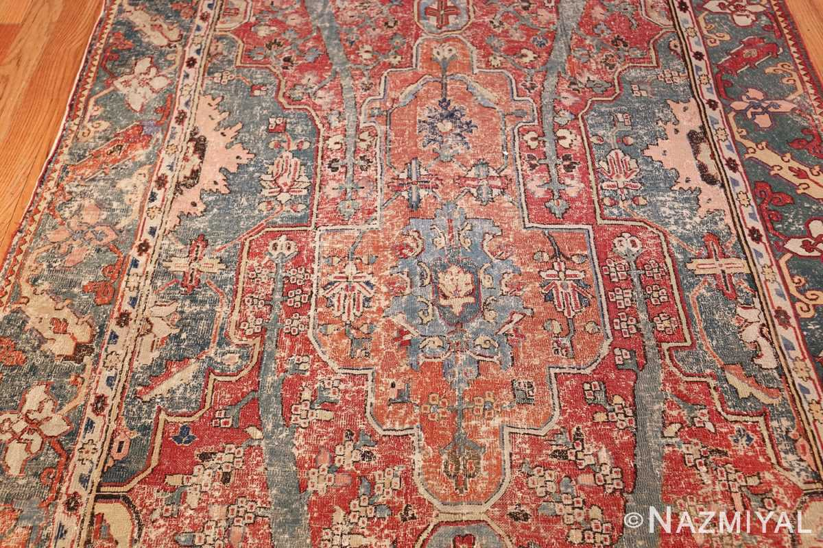 rare antique 17th century gallery size khorassan persian rug 3289 field Nazmiyal