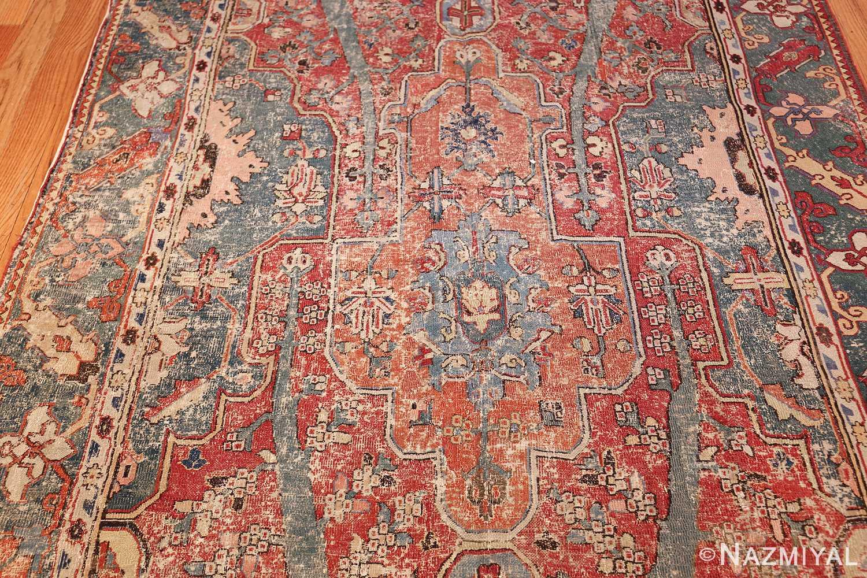 rare antique 17th century gallery size khorassan persian rug 3289 field Nazmiyal