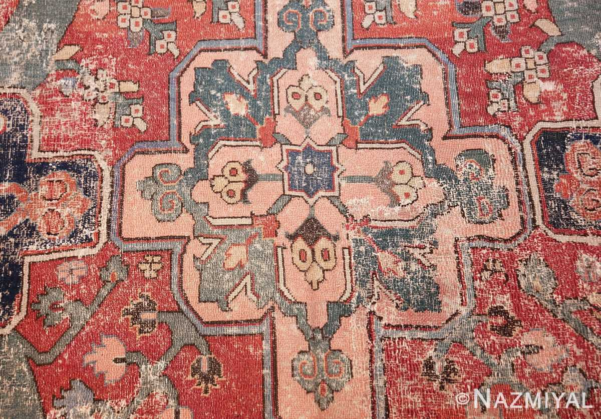rare antique 17th century gallery size khorassan persian rug 3289 peach medallion Nazmiyal
