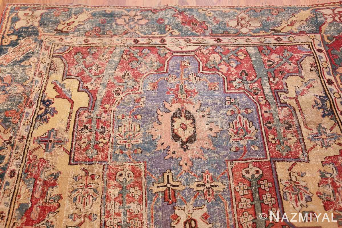 rare antique 17th century gallery size khorassan persian rug 3289 purple Nazmiyal