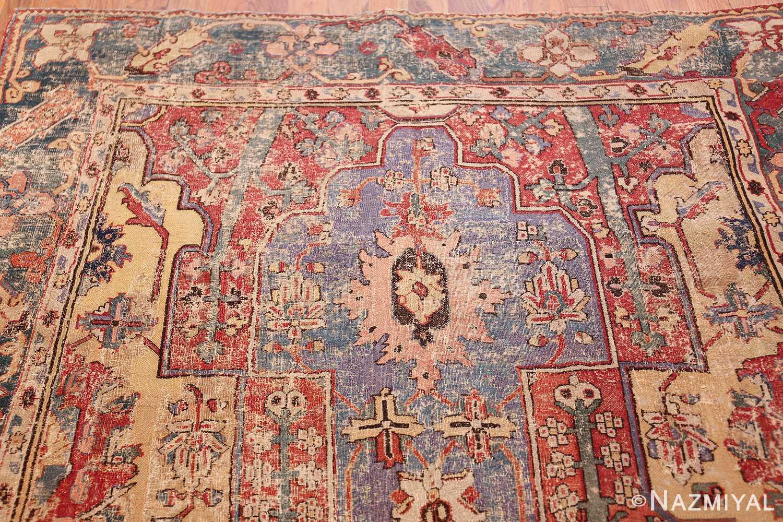 rare antique 17th century gallery size khorassan persian rug 3289 purple Nazmiyal