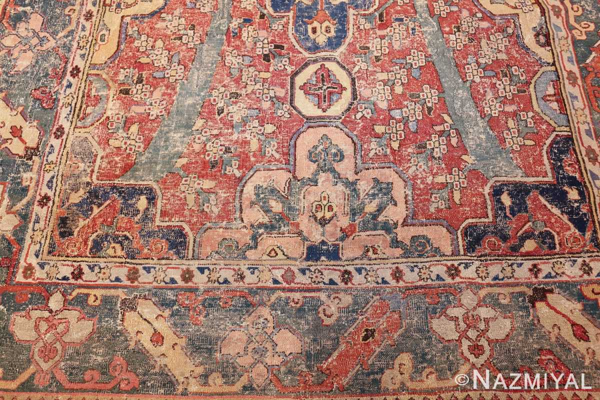 rare antique 17th century gallery size khorassan persian rug 3289 side Nazmiyal