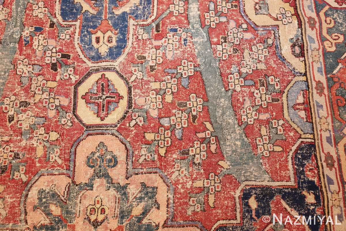 rare antique 17th century gallery size khorassan persian rug 3289 white blooms Nazmiyal