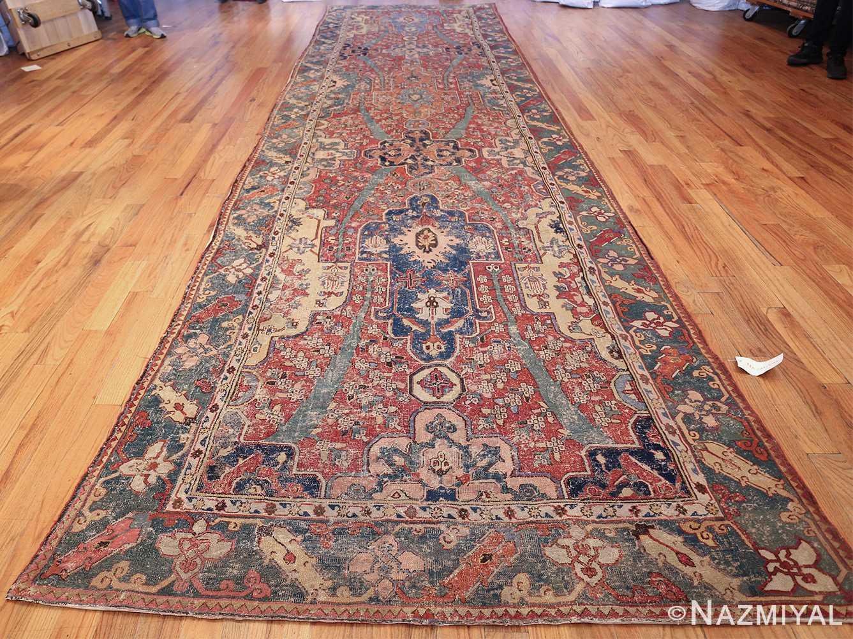 rare antique 17th century gallery size khorassan persian rug 3289 whole Nazmiyal