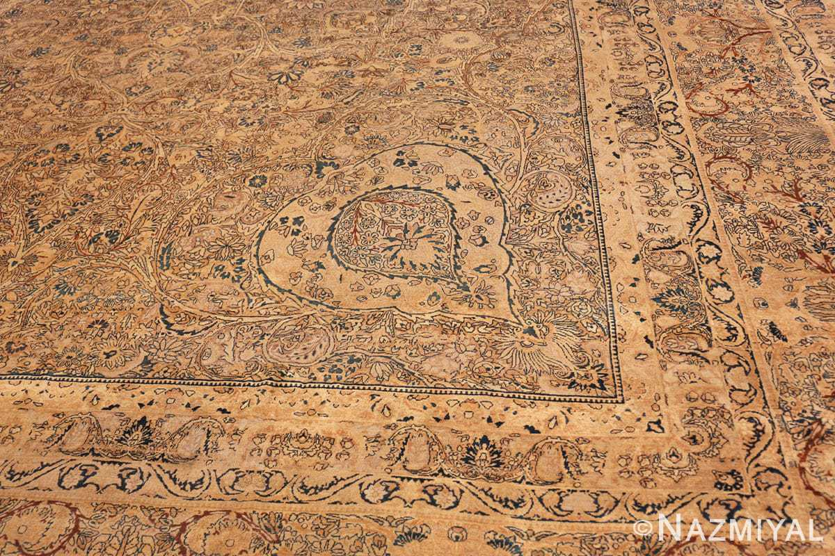 Detail Large oversized Antique Persian Kerman rug 42880 by Nazmiyal
