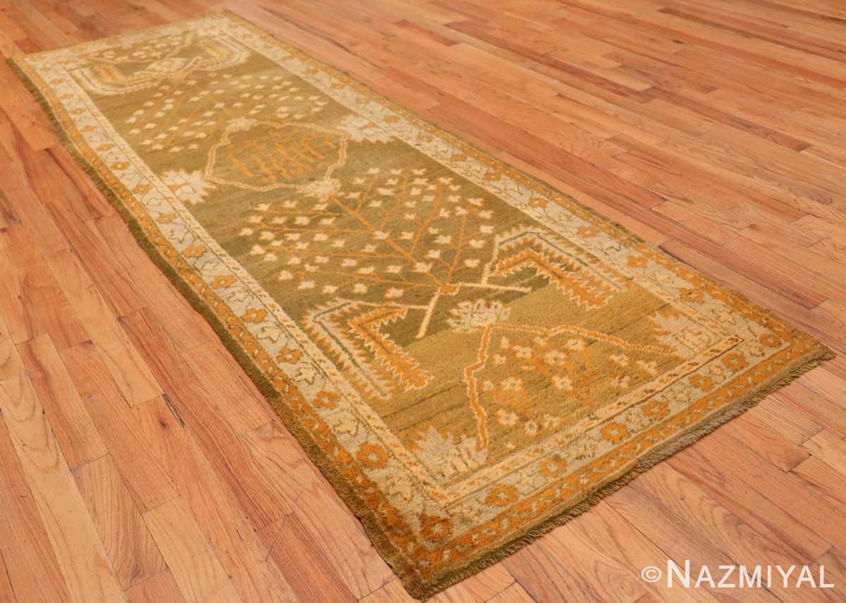 Full Antique Turkish green Oushak runner rug 42997 by Nazmiyal