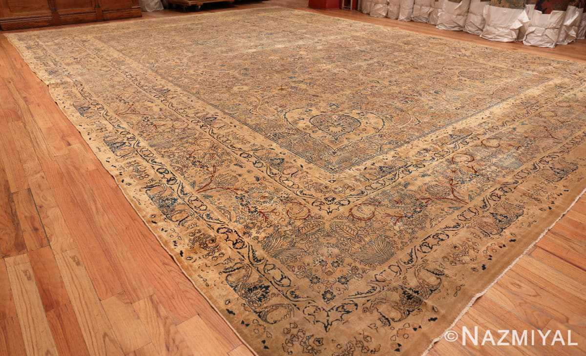 Full Large oversized Antique Persian Kerman rug 42880 by Nazmiyal