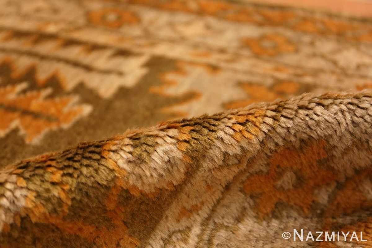 Pile Antique Turkish green Oushak runner rug 42997 by Nazmiyal
