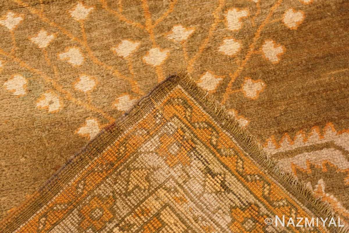 Weave Antique Turkish green Oushak runner rug 42997 by Nazmiyal