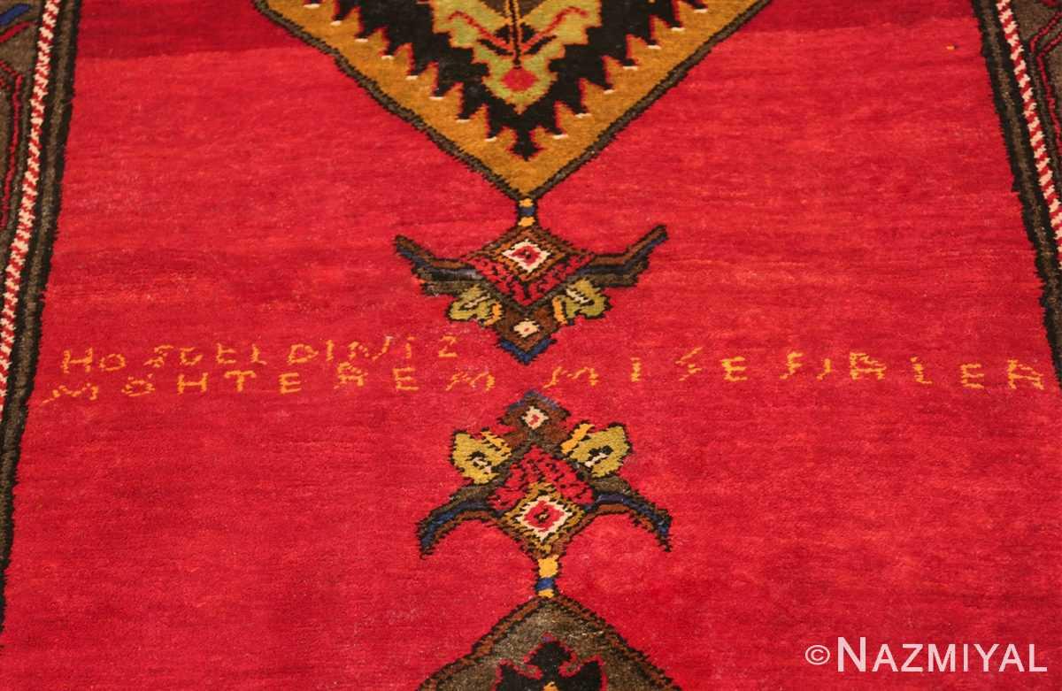 antique caucasian karabagh rug 42915 signature Nazmiyal