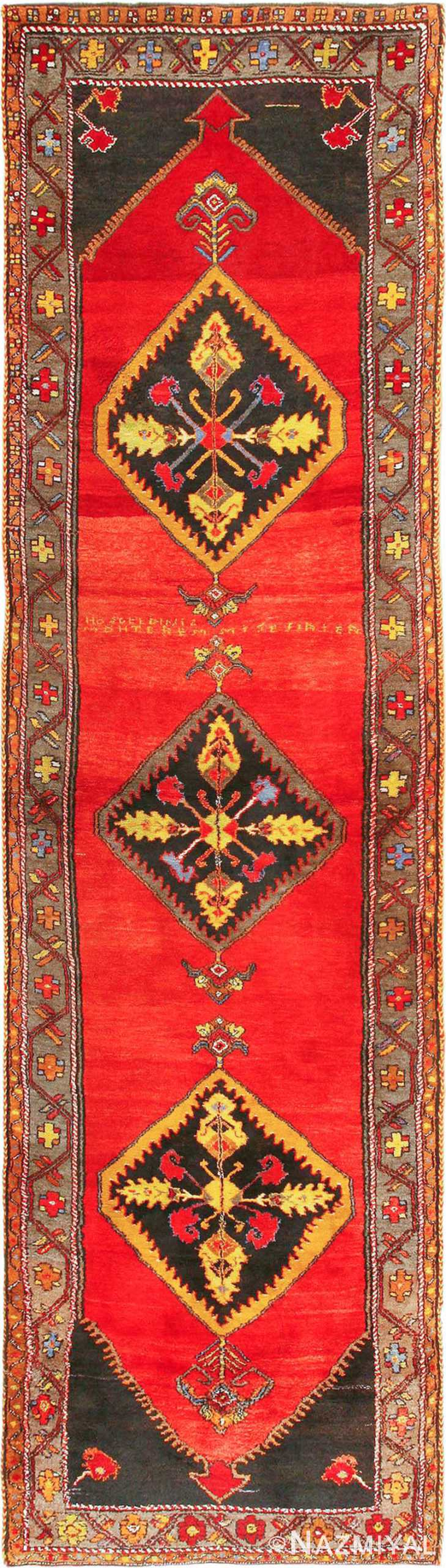 antique caucasian karabagh rug 42915 Nazmiyal