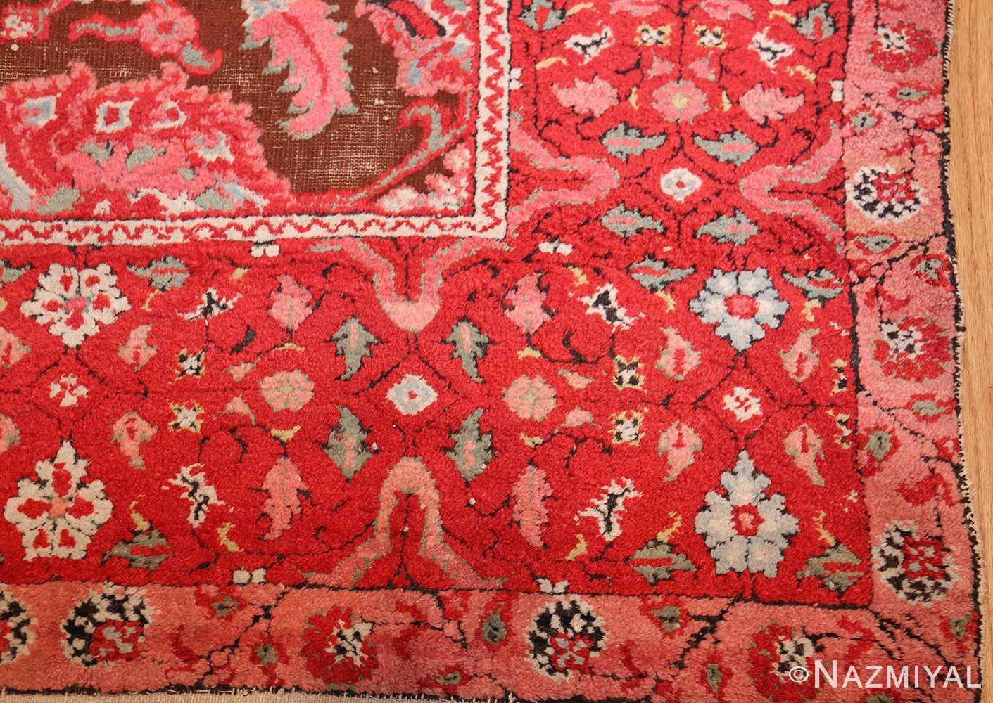 antique indian agra rug 3398 corner Nazmiyal