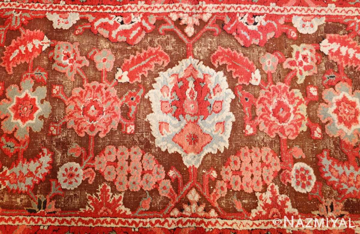 antique indian agra rug 3398 field Nazmiyal