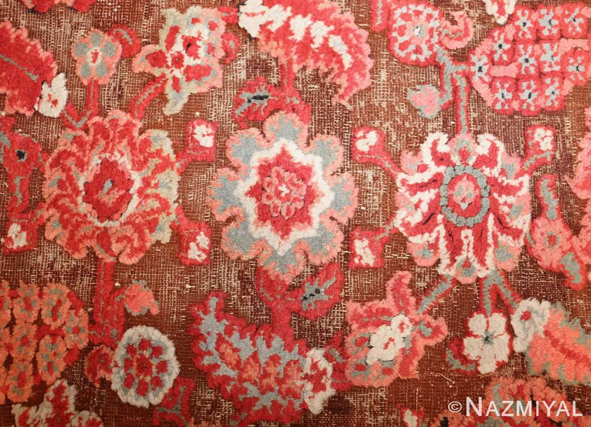 antique indian agra rug 3398 flowers Nazmiyal