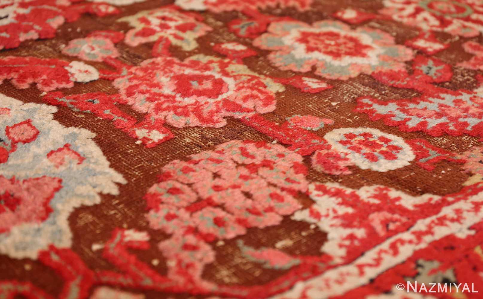 antique indian agra rug 3398 raised Nazmiyal