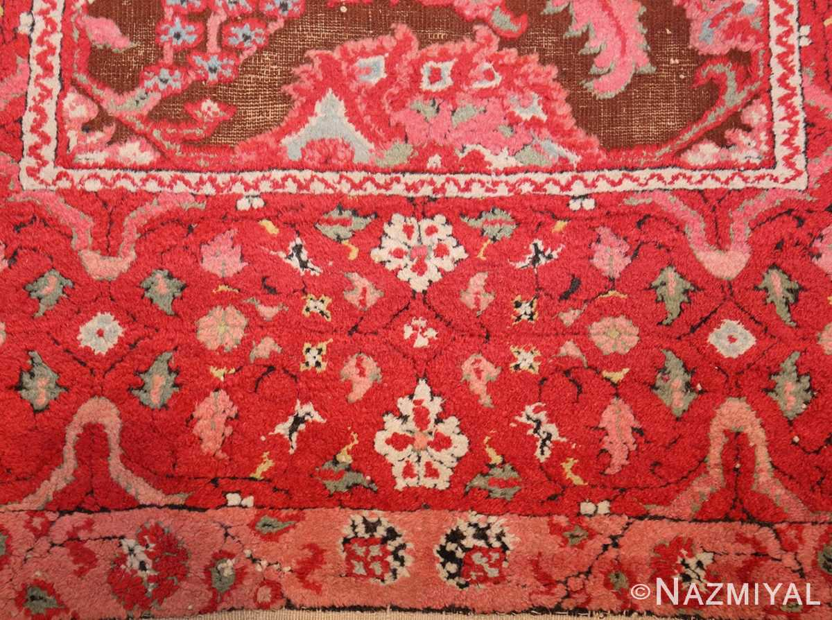 antique indian agra rug 3398 red Nazmiyal