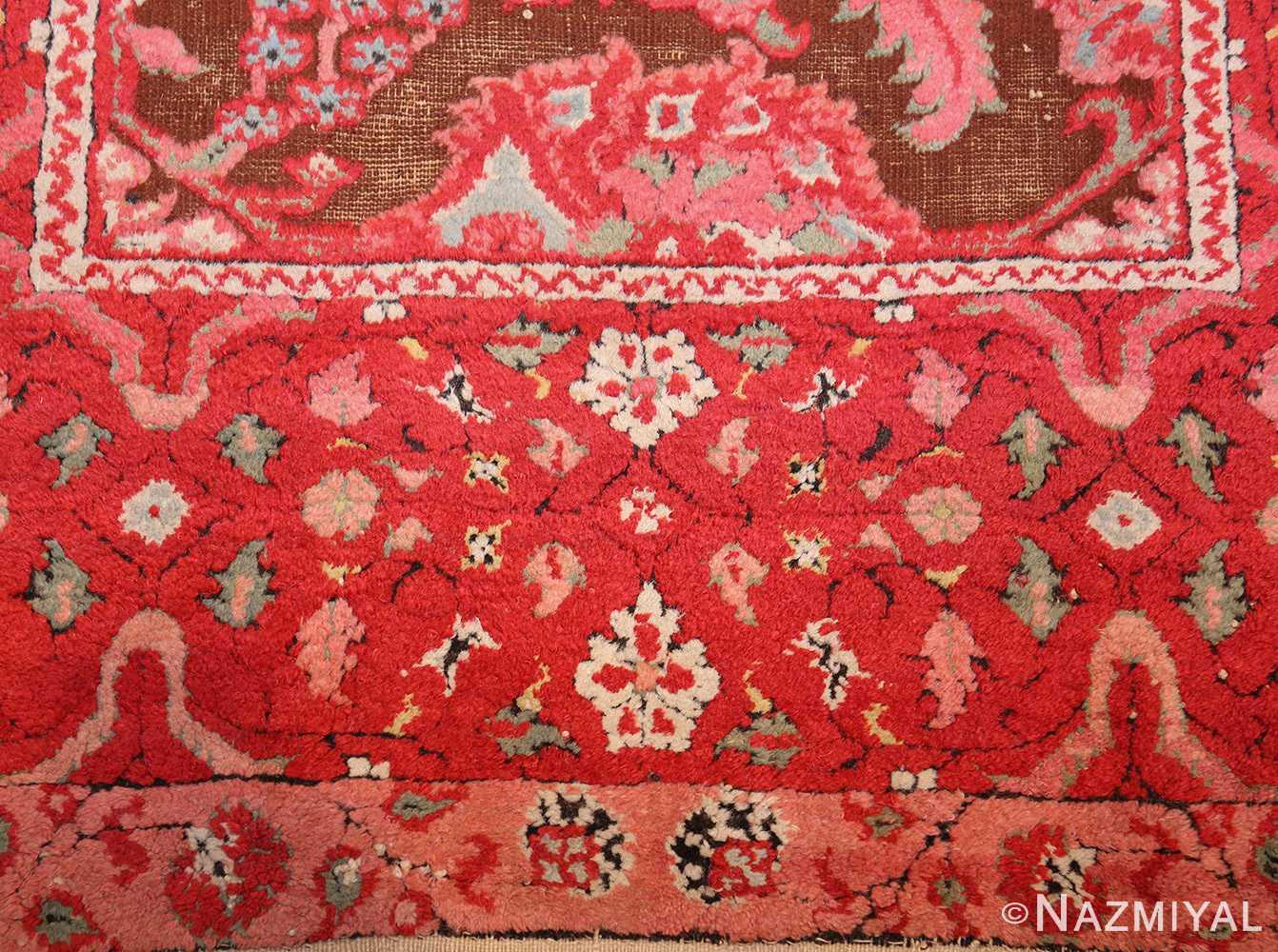 antique indian agra rug 3398 red Nazmiyal
