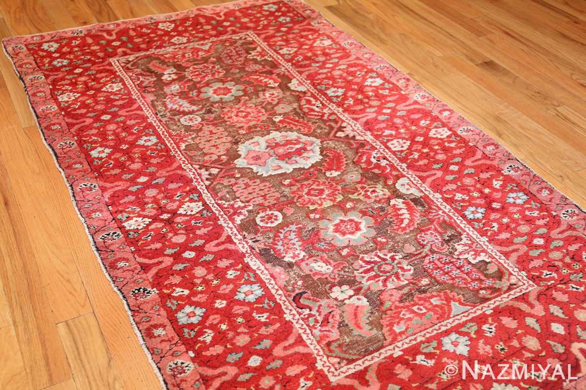 antique indian agra rug 3398 side Nazmiyal