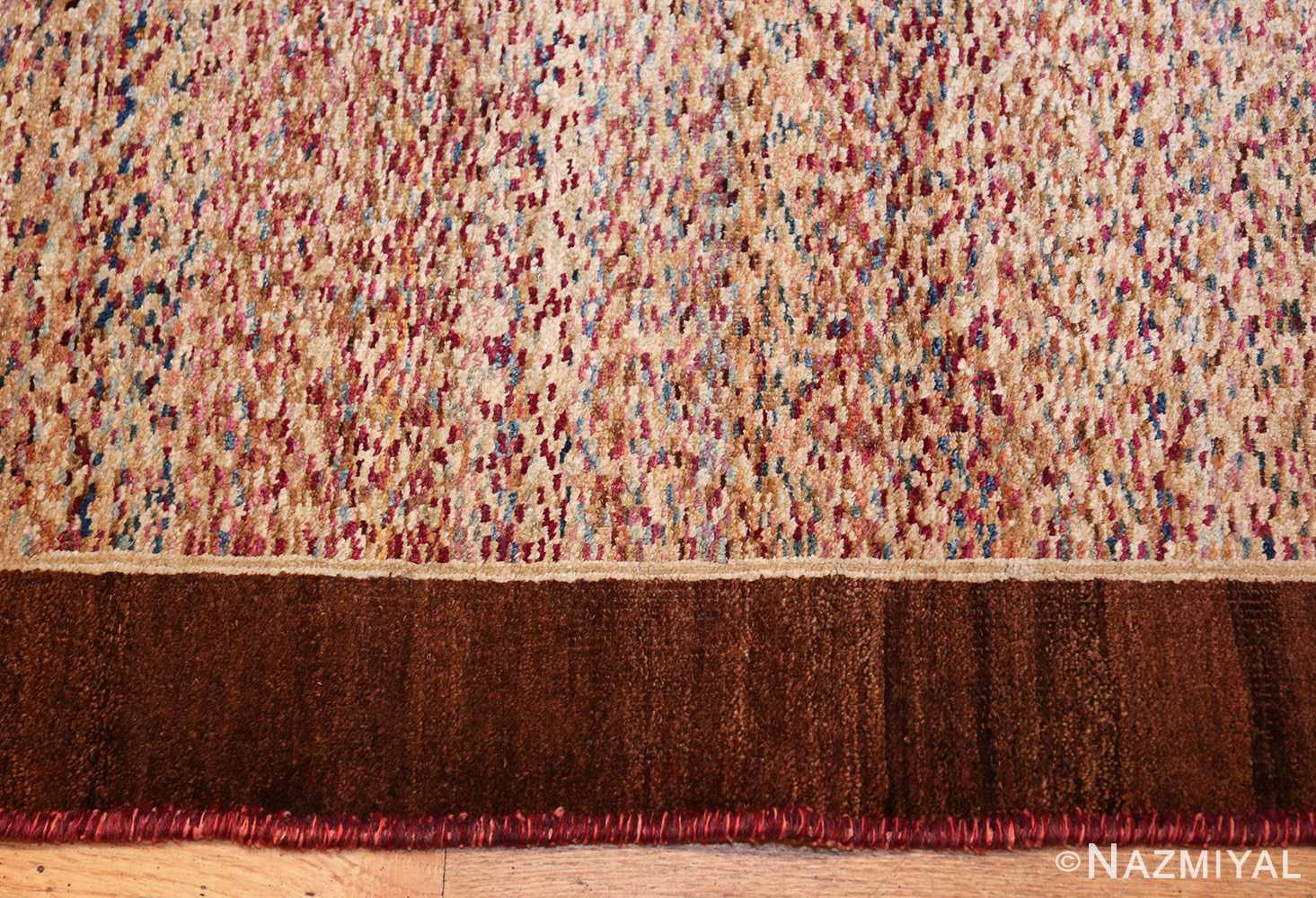 antique indian agra rug 40886 border Nazmiyal