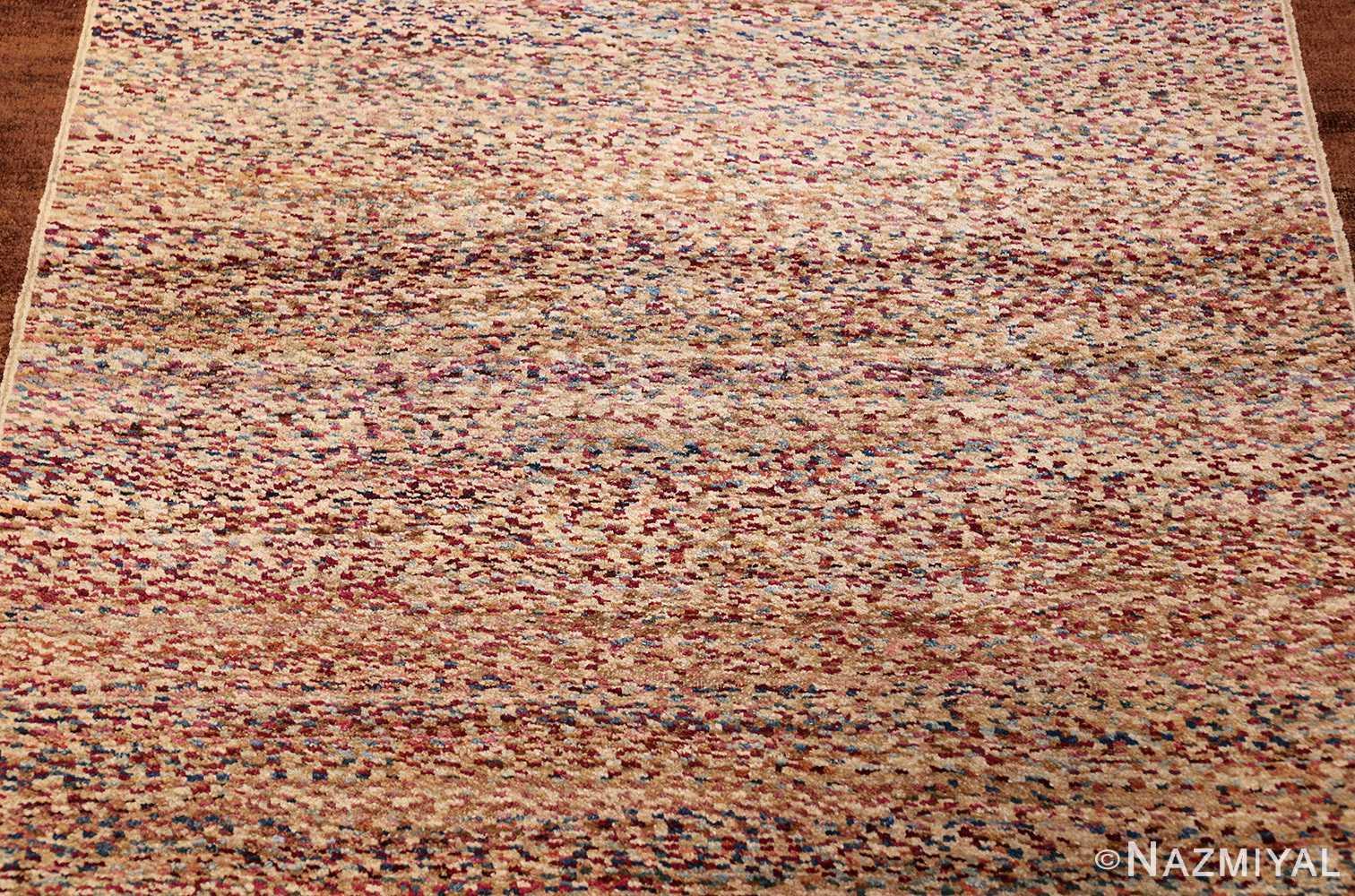 antique indian agra rug 40886 corner Nazmiyal