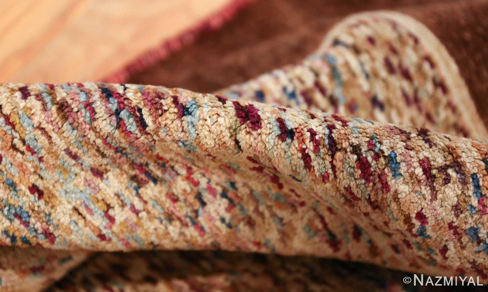 antique indian agra rug 40886 pile Nazmiyal