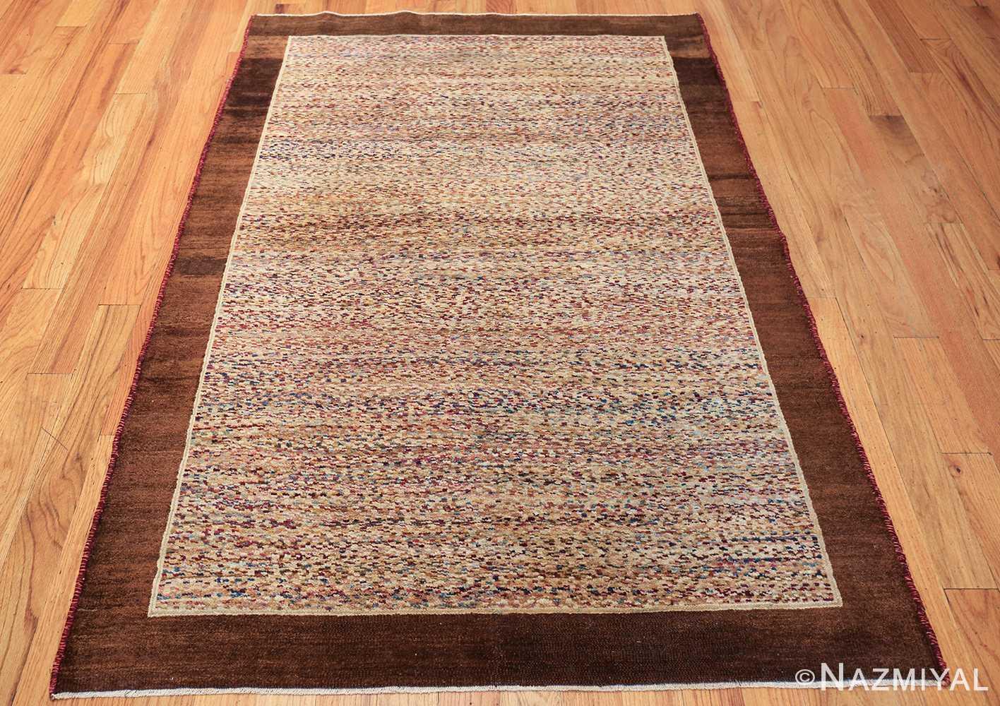 antique indian agra rug 40886 weave Nazmiyal
