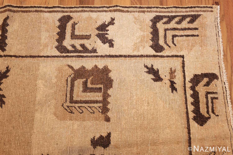 antique khotan rug 42921 corner Nazmiyal