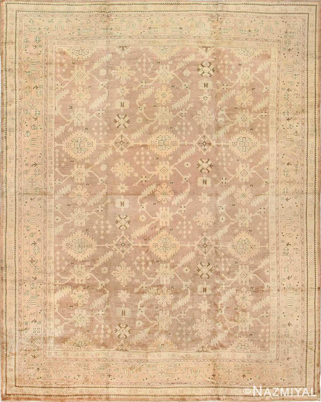 Antique Oushak Turkey Carpet 42091 Nazmiyal