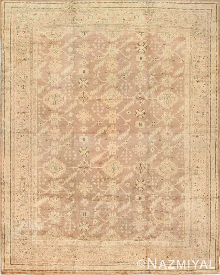 Antique Oushak Turkey Carpet 42091 Nazmiyal