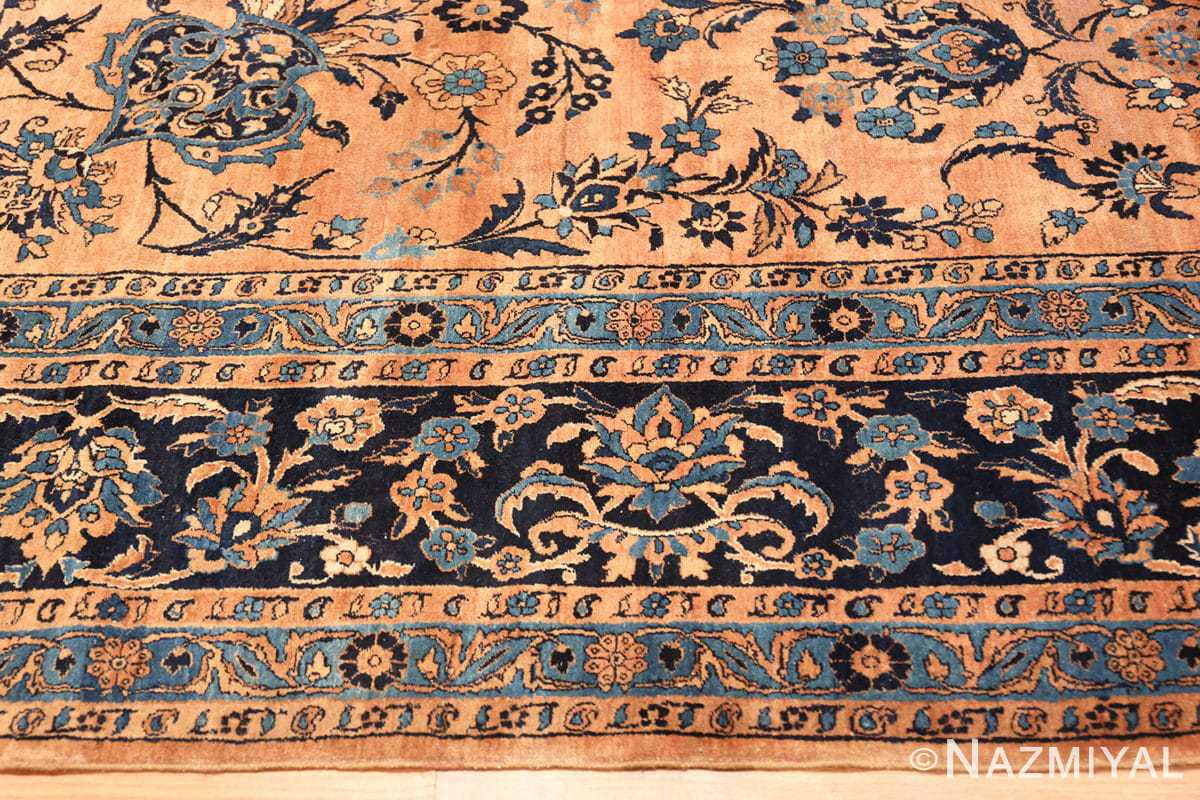 Border Large Antique Kerman rug Persian 42101 by Nazmiyal