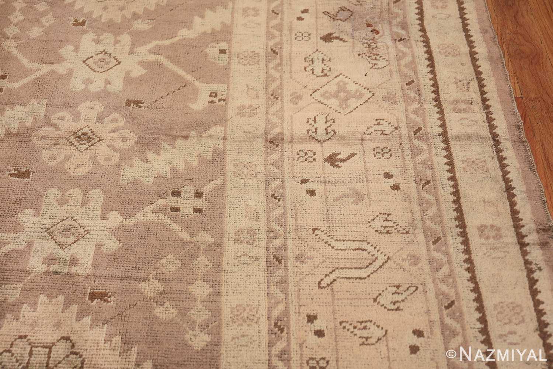 Decorative Room Size Antique Turkish Oushak Rug 42091 Border Design Nazmiyal