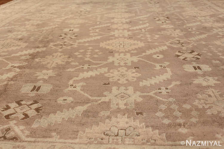 Decorative Room Size Antique Turkish Oushak Rug 42091 Field Design Nazmiyal