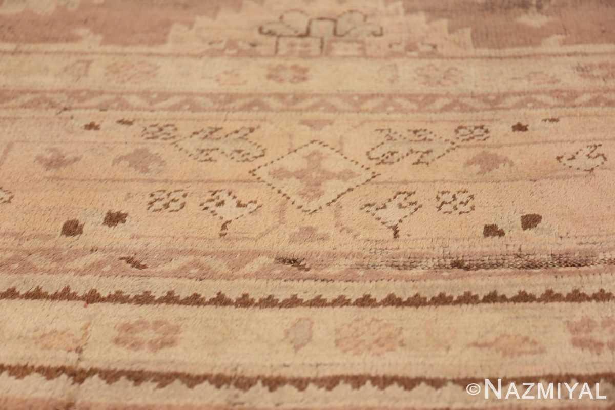 Decorative Room Size Antique Turkish Oushak Rug 42091 Lower Side Pattern Nazmiyal