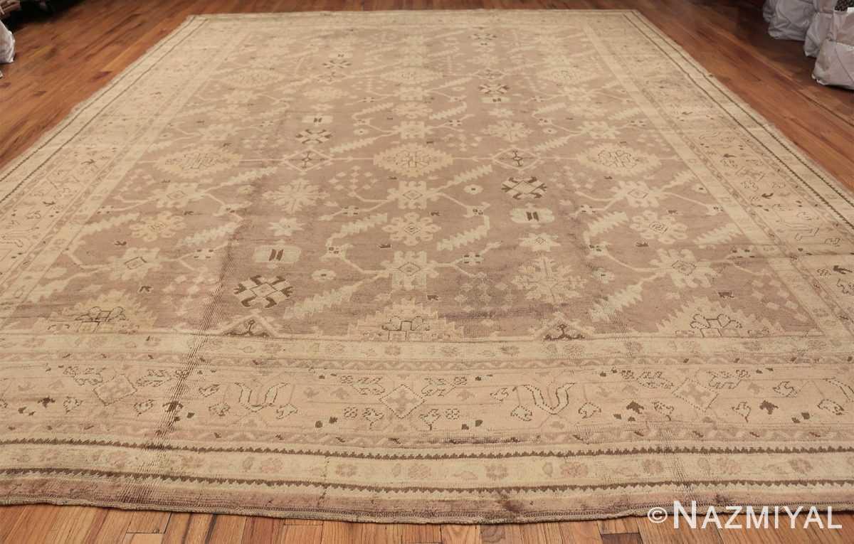 Decorative Room Size Antique Turkish Oushak Rug 42091 Whole Design Nazmiyal
