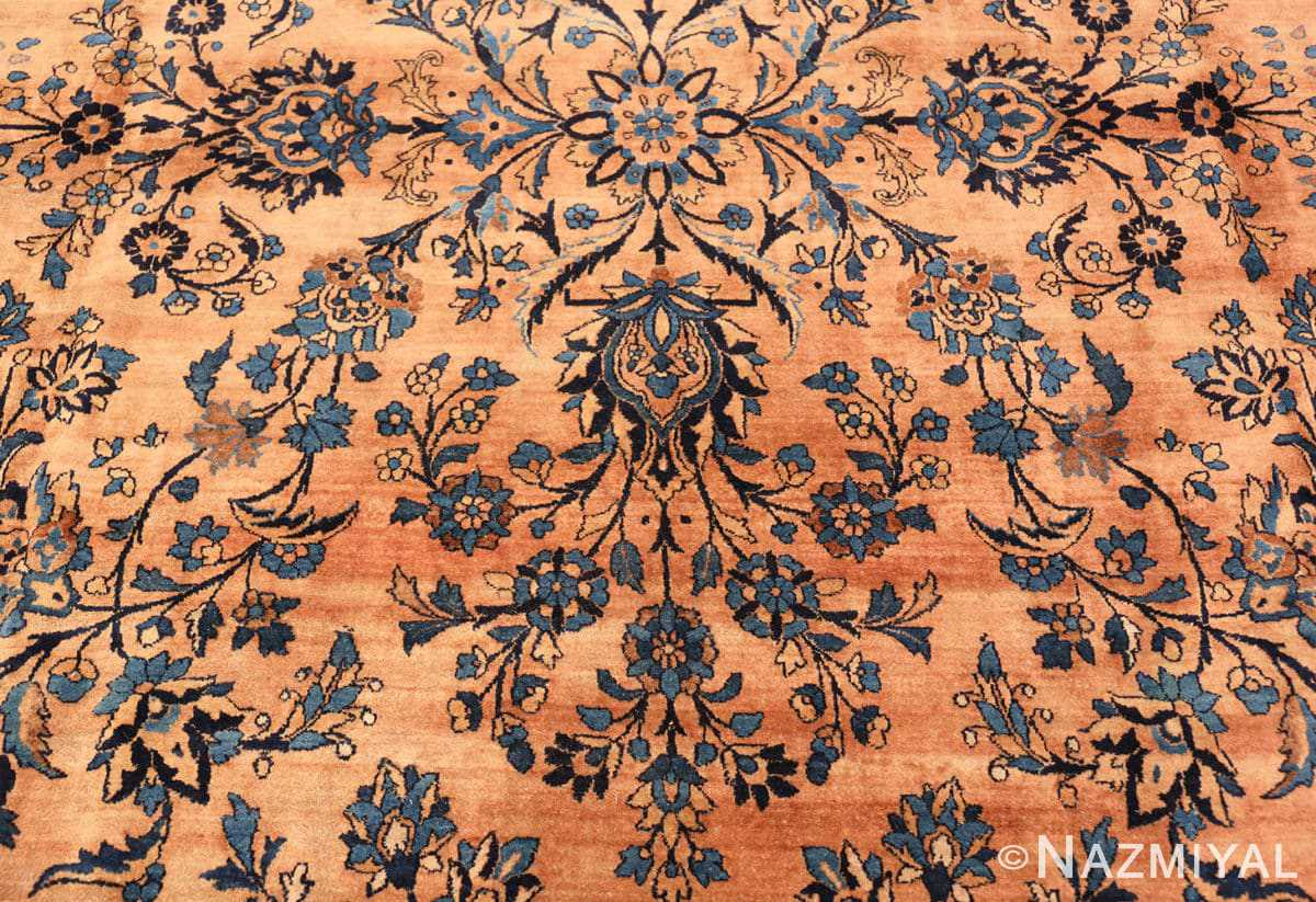 Detail Large Antique Kerman rug Persian 42101 by Nazmiyal