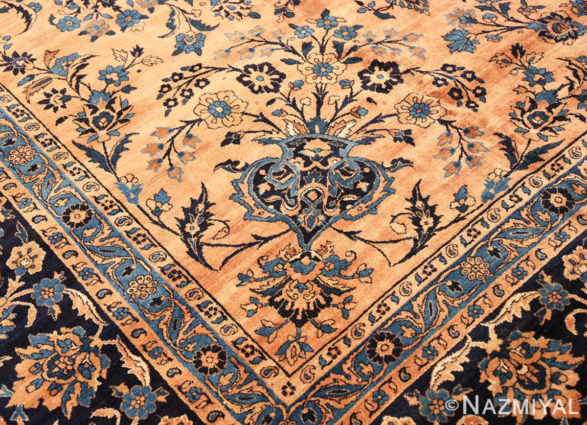 Inside corner Large Antique Kerman rug Persian 42101 by Nazmiyal