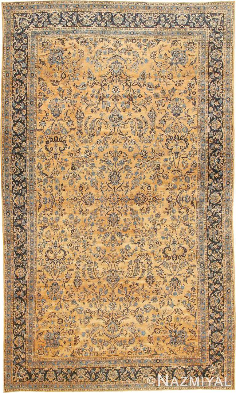 Decorative Large Size Antique Kerman Persian Area Rug #42101 by Nazmiyal Antique Rugs