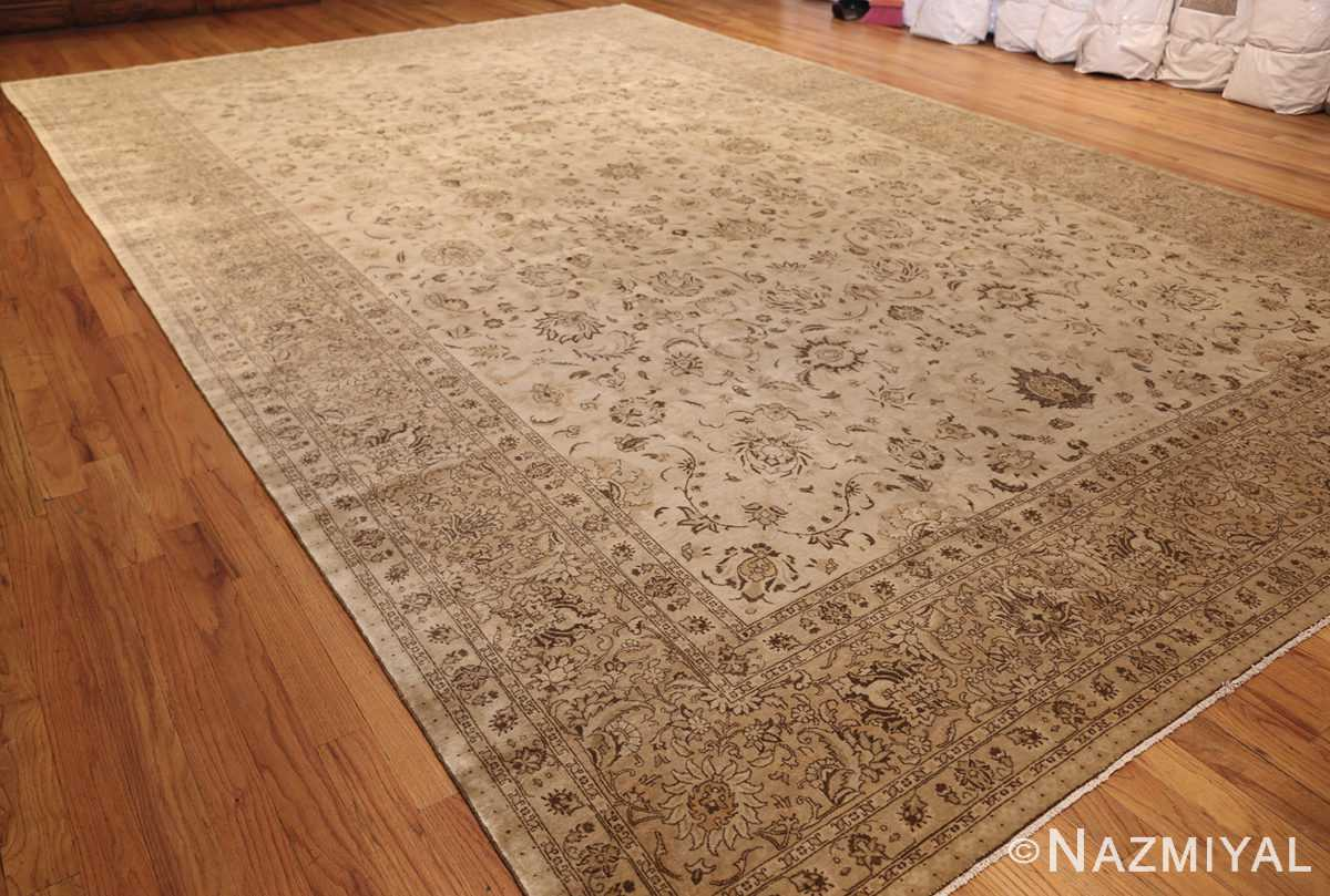 large antique persian tabriz rug 41516 side Nazmiyal
