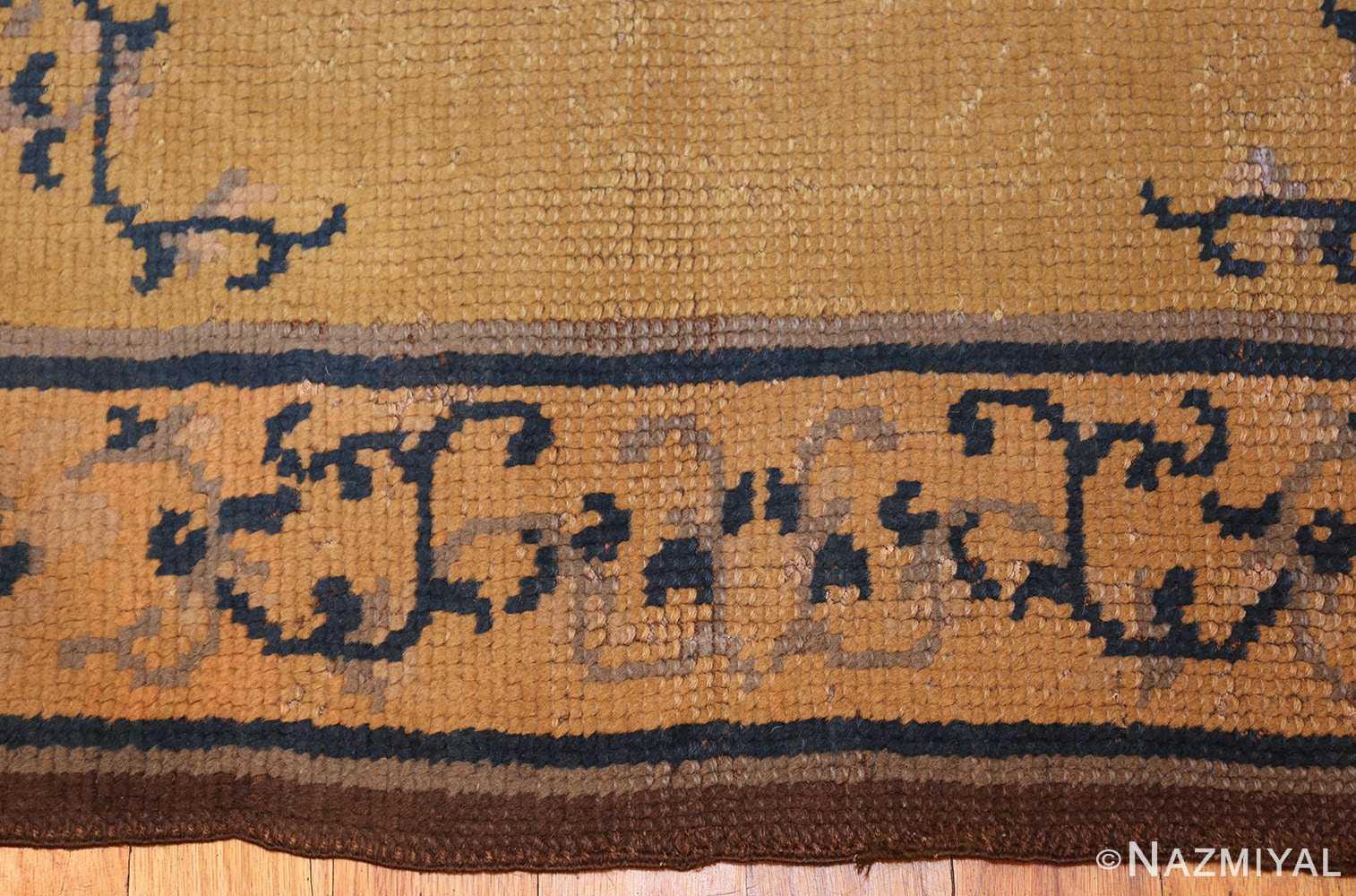 square size antique spanish carpet 1151 border Nazmiyal