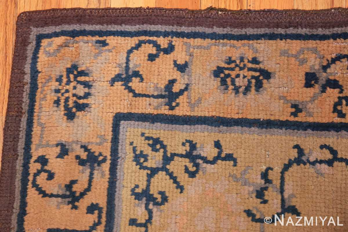 square size antique spanish carpet 1151 corner Nazmiyal