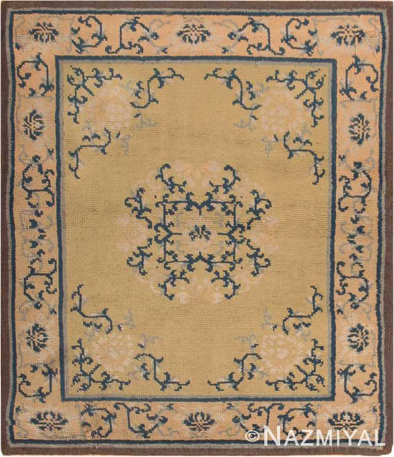 Square Size Antique Spanish Carpet #1151 by Nazmiyal Antique Rugs