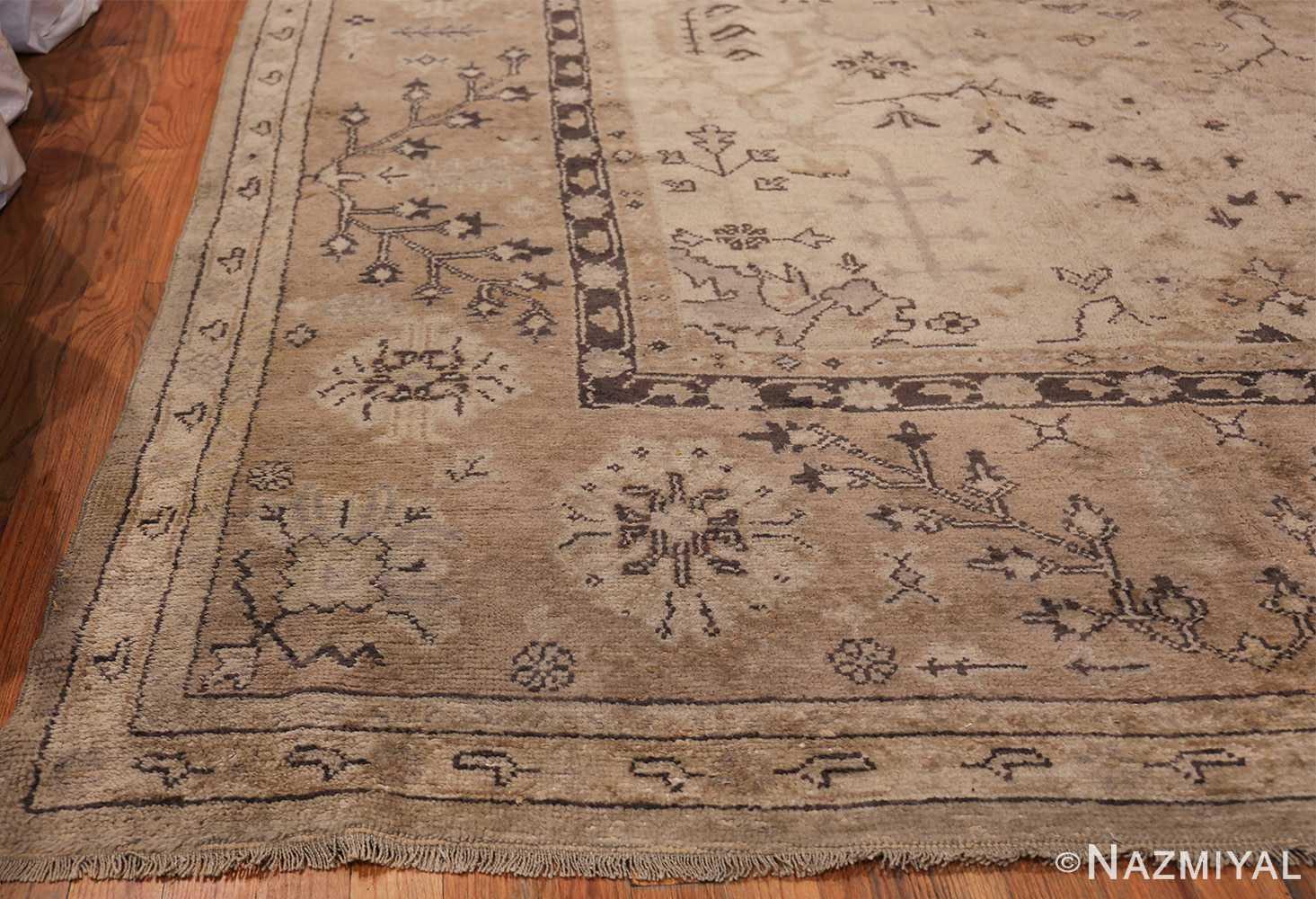 Tribal Large Antique Turkish Ghiordes Rug 40665 Side Corner Nazmiyal