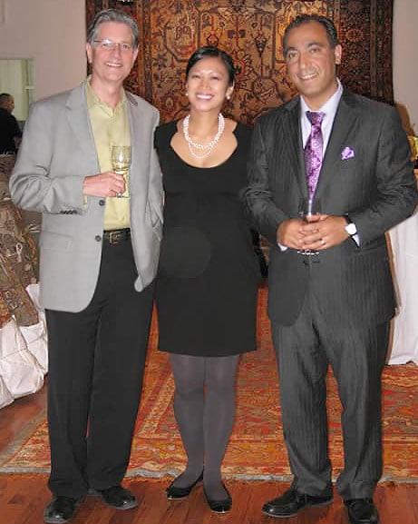 John Kurtz of New Moon rugs with Catherine Davis Jason Nazmiyal