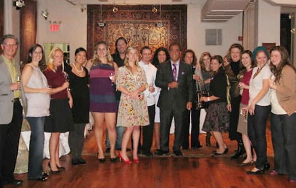 Nazmiyal Staff among Veranda Magazine team with New Moon Rugs Personnel