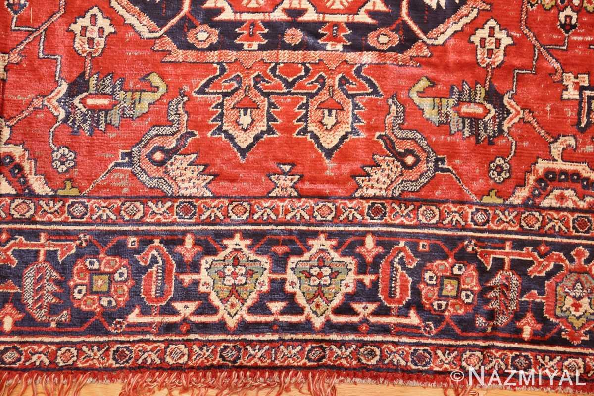 antique american chenille rug 2685 border Nazmiyal