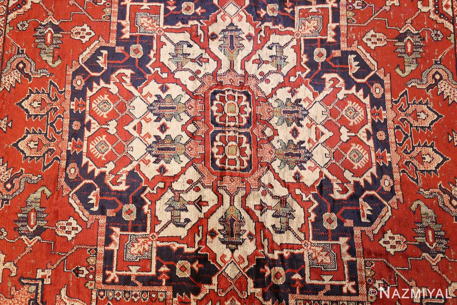 antique american chenille rug 2685 center Nazmiyal