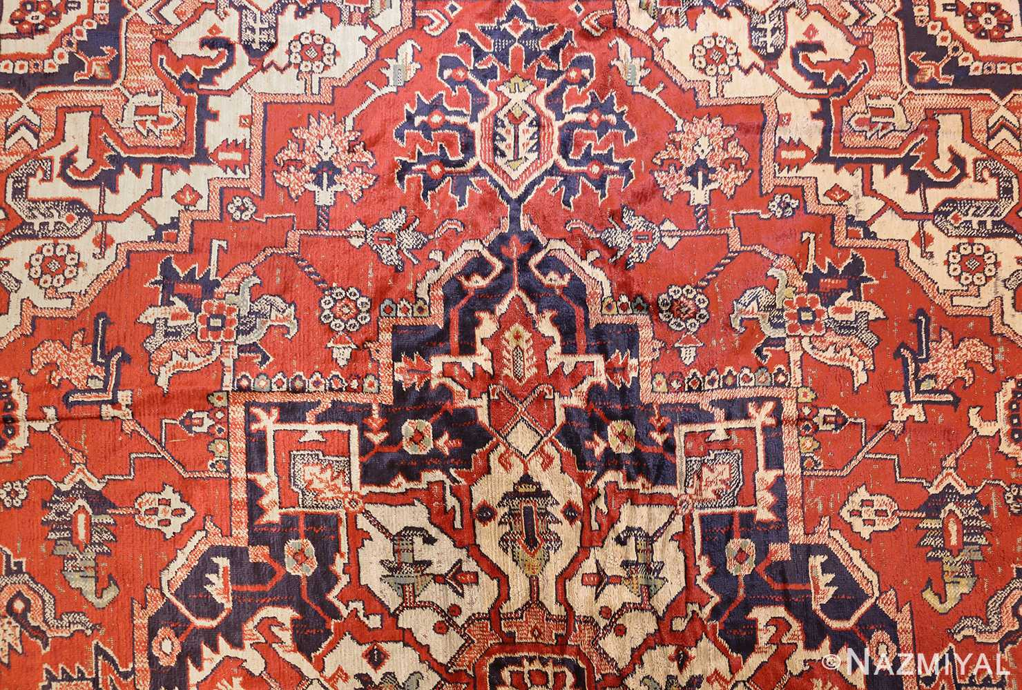 antique american chenille rug 2685 top Nazmiyal