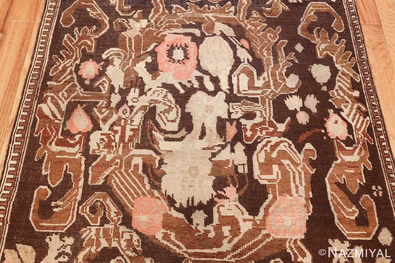 antique caucasian karabagh hallway runner rug 1120 flowers Nazmiyal